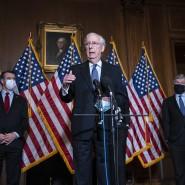 Der republikanische Mehrheitsführer im Senat Mitch McConnell während einer Pressekonferenz in Washington Anfang Dezember