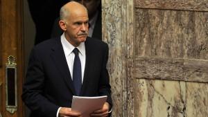 Samaras gegen Übergangsregierung mit Papandreou
