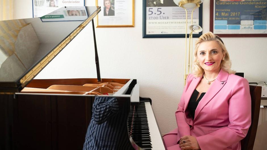 Ausnahmetalent an den Tasten:  die Pianistin Catherine Gordeladze