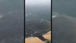 Schmutzwasserstrom in Acapulco