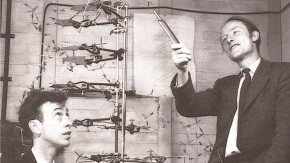 Francis Crick with James D. Watson