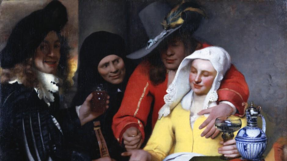 """Ein Frühwerk Vermeers: """"Bei der Kupplerin"""" von 1656"""