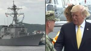 """""""USS McCain"""" wurde vor Trump versteckt"""