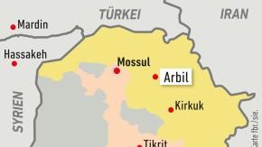 Karte / Irak / Arbil