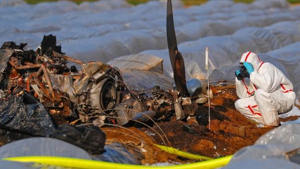 Tote nach Flugzeugabsturz in Hessen
