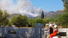 Feuer wütet auf griechischer Insel