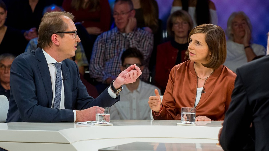 Müssen noch viel miteinander klären: Alexander Dobrindt (CSU) und Katrin Göring-Eckhardt (Grüne)