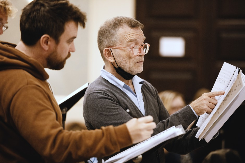 Christophe Rousset (rechts) probt für die Eröffnung des Haydneums.