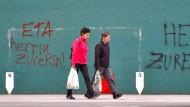 Nicht nur dieses Eta-Graffiti in Hernani wird im Baskenland noch lange nachwirken