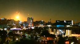 Meteorit beleuchtet ganze Großstadt
