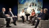 Die Runde um Sandra Maischberger: Ralph Brinkhaus, Stephan Weil, Katrin Göring-Eckardt, Jan Fleischhauer, Hans-Ulrich Jörges