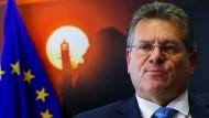 Der Vizepräsident der EU-Kommission Maroš Šefčovič am Mittwoch in Brüssel