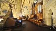 Auf der Empore: die restaurierte, 120 Jahren alte Walcker-Orgel in der Wiesbadener Ringkirche