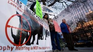 Nashorn-Abschuss soll gutem Zweck dienen