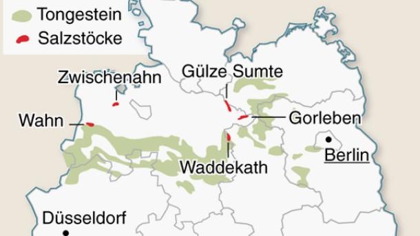 Infografik / Karte / Wohin mit dem Atommüll?