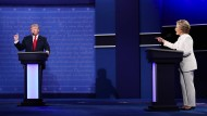 Das Fernsehduell zwischen Hillary Clinton und Donald Trump in Las Vegas war geprägt von Vorwürfen und Anschuldigungen der beiden Kandidaten.