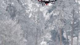 Eine Drohne angeln