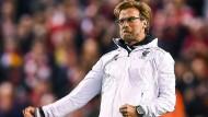 Jürgen Klopp will mit dem FC Liverpool auch weiterhin jubeln.