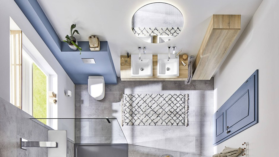 Komfortabel und modern: Ein barrierefreies Bad muss nicht trist wirken.