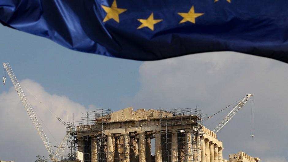 Lange nicht gesehen: die Akropolis.