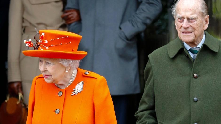 Geimpft: Die Königin und ihre Mann. (Archivbild)