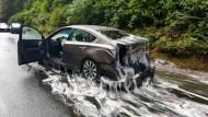 Aalglatter Highway gesperrt