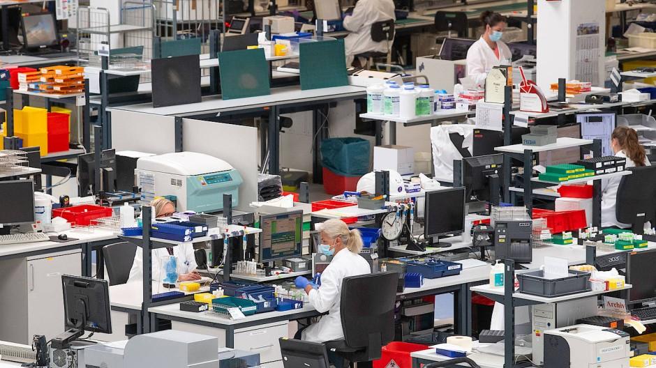 Tausende Proben täglich: Großraum-Labor des Labor-Diagnostikunternehmens Bioscientia