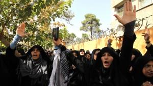 Proteste vor französischer Botschaft in Teheran