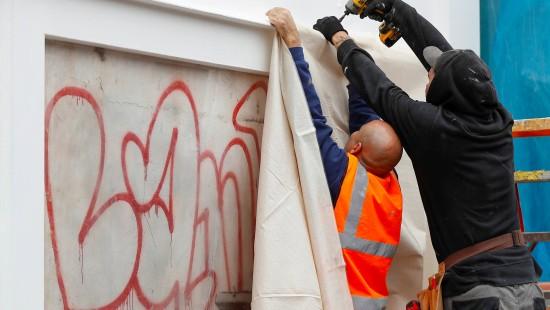 Banksy-Gemälde in London wieder zu sehen