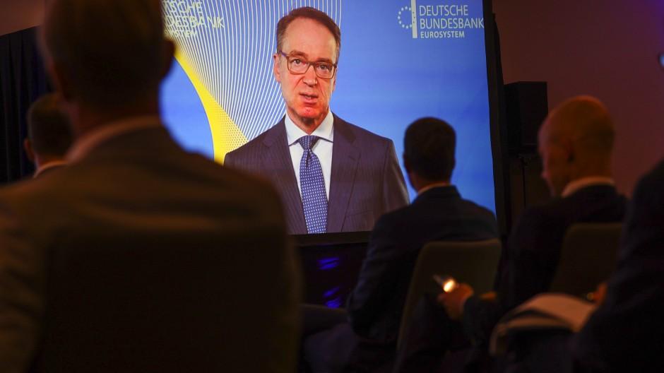 Bundesbank-Präsident Jens Weidmann spricht im Juni auf einer Finanzkonferenz in Frankfurt.