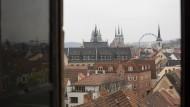 Das ist die Mitte: Erfurt liegt nur 50 Kilometer entfernt vom geographischen Mittelpunkt Deutschlands.