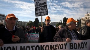 31-01-2013 Athens - March of employees in public sector