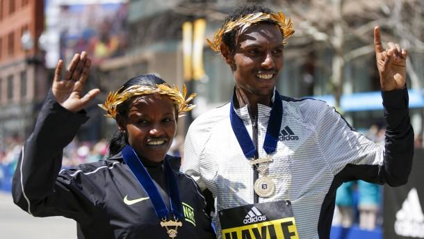 Äthiopische Athleten dominieren Boston-Marathon