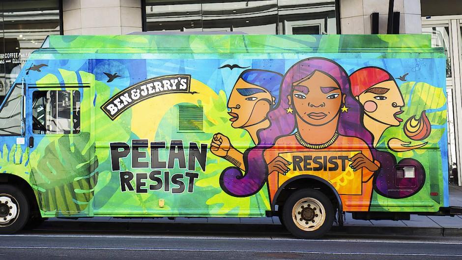 Ein Truck von Ben & Jerry's in Washington