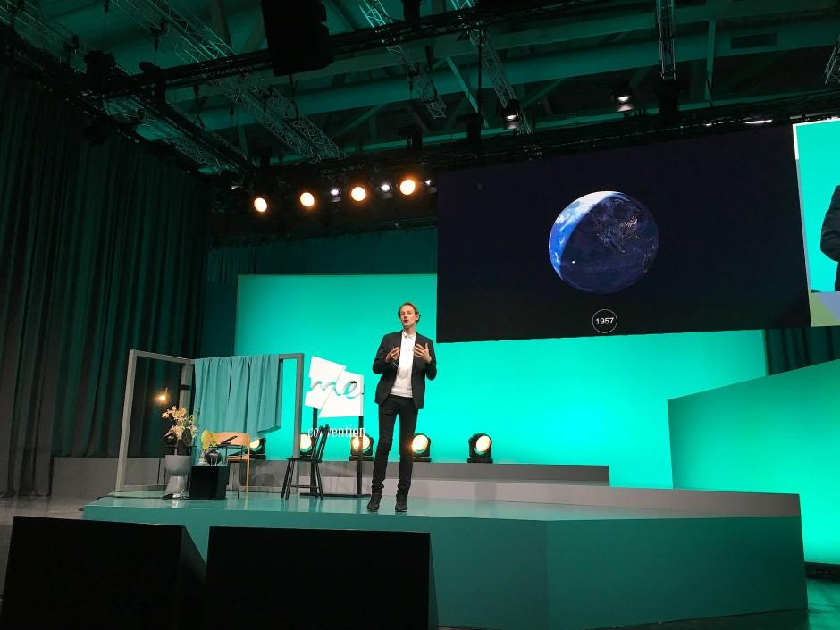 Daan Roosegaarde auf der Me Convention in Frankfurt