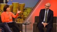 Sandra Maischberger im Gespräch mit dem CDU-Generalsekretär Peter Tauber: Klartext oder doch eher Blindtext?