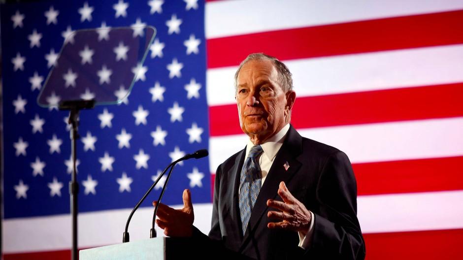 Bloomberg bei einer Wahlkampfveranstaltung in Chattanooga, Tennessee