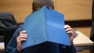 Der Angeklagte im Gericht in Bielefeld (Archivbild)