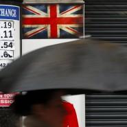 Weniger fürs Geld: Vor einer Wechselstube in London