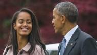 Barack Obama hatte den Bau der Dakota Access gestoppt. Seine Tochter Malia setzt sich dafür ein, dass es dabei bleibt.
