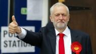 Bleibt optimistisch: Oppositionsführer Jeremy Corbyn