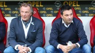 Unterschiedliche Perspektiven: Harald Strutz (li.) und Christian Heidel, inzwischen beim FC Schalke 04, haben sich auseinandergelebt.