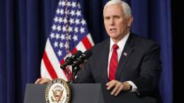 Pence lehnt sofortige Trump-Absetzung ab