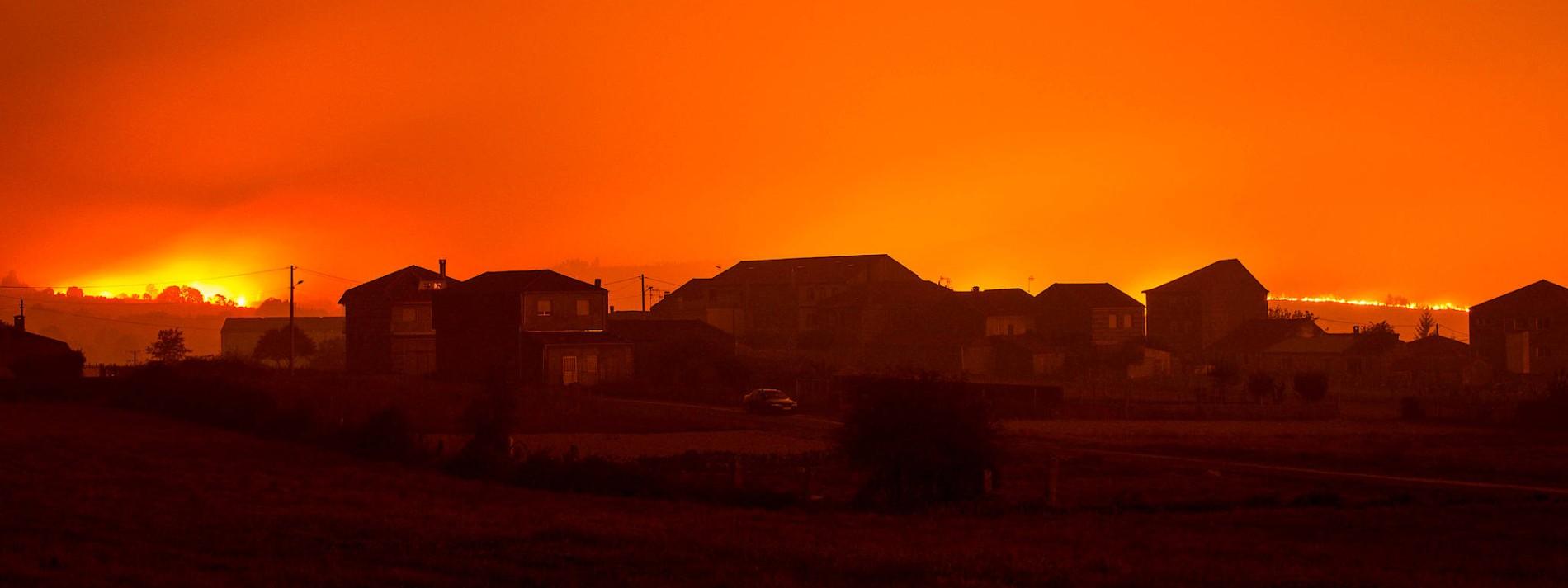 Schwere Waldbrände in Galicien