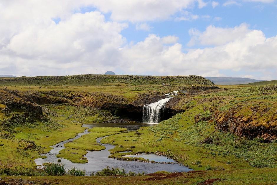 Die Landschaft auf 3400 Metern erinnert mehr an Island, zurückziehende Gletscher haben kleine Seen geformt, hier ist auch das Zeltcamp, das Ausgangspunkt für die Touren zu den Wölfen ist.