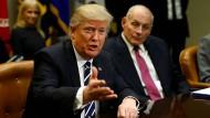 Wird bei Personalfragen von den Demokraten blockiert: Donald Trump