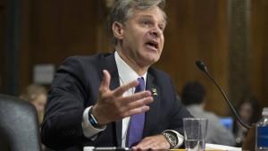 """Designierter FBI-Chef distanziert sich von """"Hexenjagd""""-Vorwurf"""