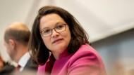 Die Wut an der Basis unterschätzt? SPD-Vorsitzende Nahles
