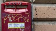 Ein Briefkasten in Rom
