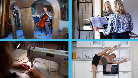 Leipziger Opern-Künstler proben zuhause